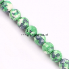 Dyed Synthetic Bead Plain Round, Approx 4-14mm, Approx 38cm/strand