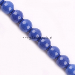 Dyed Lapis Lazuli color Synthetic Bead Plain Round, Approx 4-14mm, Approx 38cm/strand