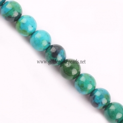 Dyed Chrysocolla color Synthetic Bead Plain Round, Approx 4-14mm, Approx 38cm/strand