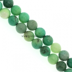 Green Grass Agate Faceted Rounds, Approx 8mm, Approx 38cm/strand