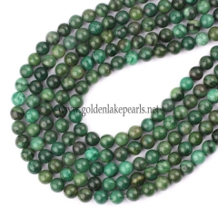 Xibei Green jade(Verdite) Plain Rounds, 8mm, Approx 38cm/strand