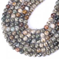 Ocean Jasper Plain Rounds, 6-10mm, Approx 38cm/strand
