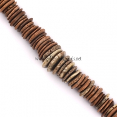 Brown Synthetic Turquoise Graduated Slices, 10-20mm, Approx 38cm/strand