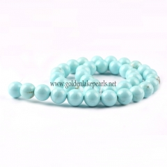 Dyed Larimar Color Magnesite Plain Rounsds, 4-12mm,  Approx 36cm/strand