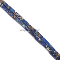 Royal Blue color Impression Jasper Cubiods, Approx 4x13mm, Approx 38cm/strand