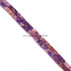 Purple color Impression Jasper Cubiods, Approx 4x13mm, Approx 38cm/strand