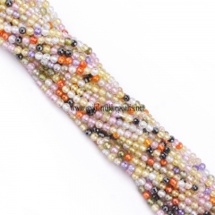 Multi Color Cubic Zirconia Faceted Rounds Appox 2-4mm, Approx 38cm/strand