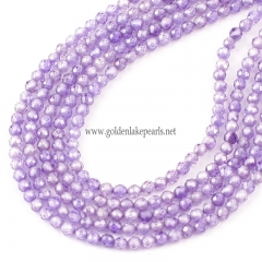 Purple Color Cubic Zirconia Faceted Rounds Appox 2-4mm, Approx 38cm/strand