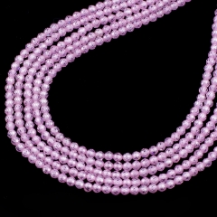 Pink Color Cubic Zirconia Faceted Rounds Appox 2-4mm, Approx 38cm/strand