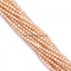 Champagne Color Cubic Zirconia Faceted Rounds Appox 2-4mm, Approx 38cm/strand