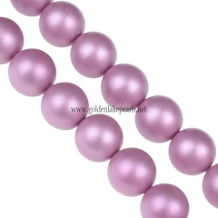 Shell pearls Matte Plain Rounds,4-14mm , Approx 38cm/strand