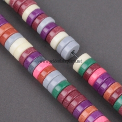 Dyed Multicolor Color Synthetic Anion Oxide Tube Beads, Approx 5x2mm, Approx 38cm/strand