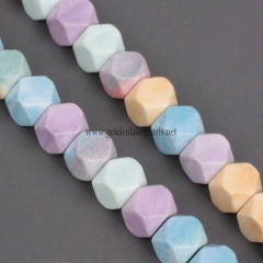 Dyed Rainblow Color Synthetic Anion Oxide Bead Cut 14 Faceted, Approx 7x7mm, Approx 38cm/strand