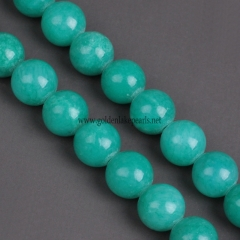 Light Green Color  New Dyed Mi Jade Plain Rounds 4-12mm , Approx 38cm