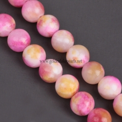Dyed Persia Jade Plain Rounds 4-12mm , Approx 38cm