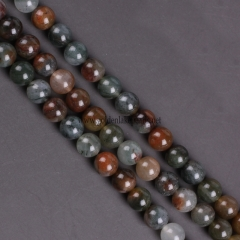 Green Moss Jasper Plain Rounds, Approx 4mm-10mm, Approx 38cm/strand
