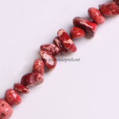 Red Color Impression Jasper Chips, Approx 5x8mm, Approx 38cm