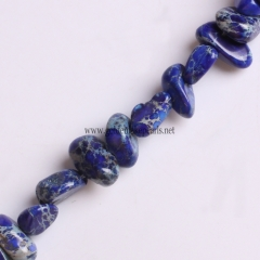 Royal Blue Color Impression Jasper Chips, Approx 5x8mm, Approx 38cm