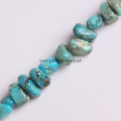Sky Blue Color Impression Jasper Chips, Approx 5x8mm, Approx 38cm
